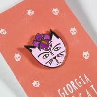 Georgia O'Cat Enamel Pin