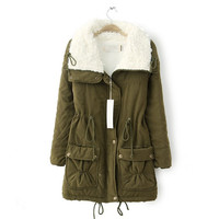 Fashion Womens Fleece Jacket Women's Coat Women Parkas Down