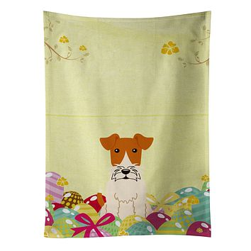 Easter Eggs Wire Fox Terrier Kitchen Towel BB6101KTWL
