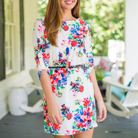 Forever On The Dance Floral Dress, Pink