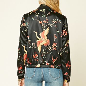 Contemporary Bird Print Jacket