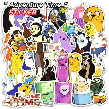 30 pcs Adventure Time Cartoon Sticker For Laptop Luggage Wall Car Bicycle Motorcycle Notebook Toys Stickers Pvc Waterproof decal