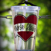 Custom Nursing Cup, Personalized Nurse Tumbler, LPN Cup, RN Cup, MD Tumbler, Personalized Nursing Cup