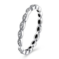 Sterling Silver Pandora Inspired Simple Braided Twist Ring
