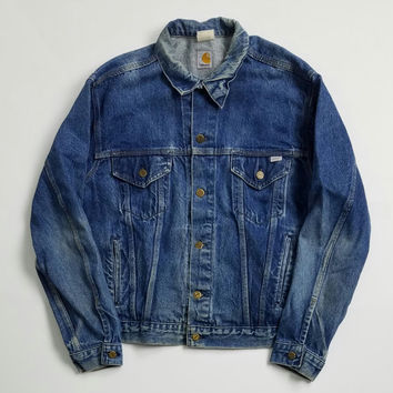 Vintage Carhartt Denim Trucker Jacket