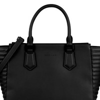 Black Trim Tote Shoulder Bag