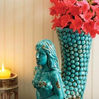 best selling turquoise ceramic mermaid vase