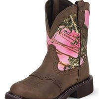 Justin Gypsy Pink Camo Cowgirl Boots