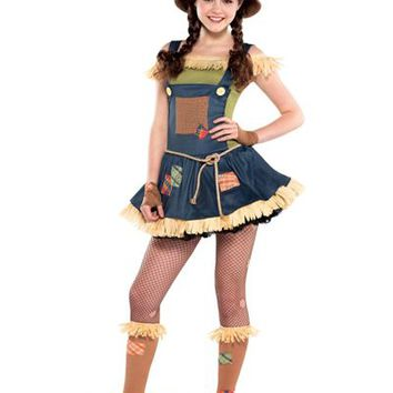 Sweet Scarecrow Costume for Teen Girls- Party City