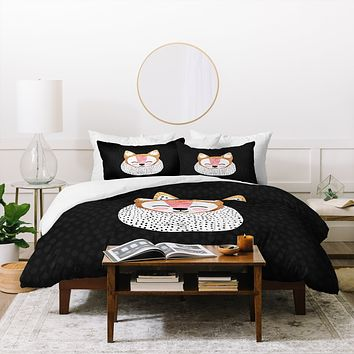 Elisabeth Fredriksson Little Arctic Fox Duvet Cover