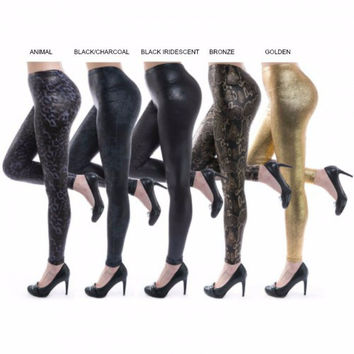 *METALLIC LIQUID LEGGINGS