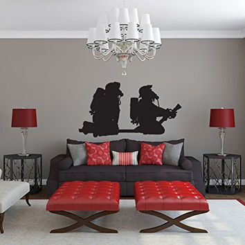 Firefighters and Hose Vinyl Wall Decal Sticker Graphic