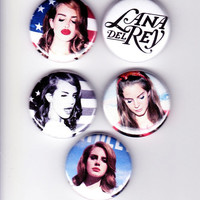 5 LANA DEL REY - 1 inch badges -  adele florence & the machine H and M paradise kill born to die