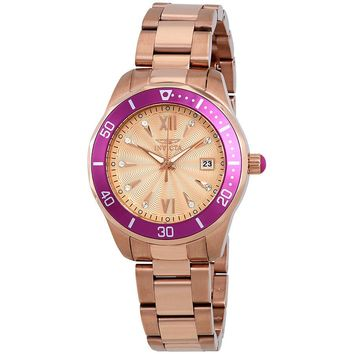 Invicta Pro Diver Rose Dial Ladies Watch 21909