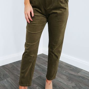 Do It Myself Pants: Olive