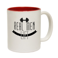 SWPS Real Men Lift Funny Gym Mug