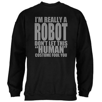 Halloween Human Robot Costume Mens Sweatshirt
