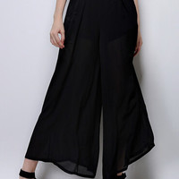Black High Waist Squared Pants