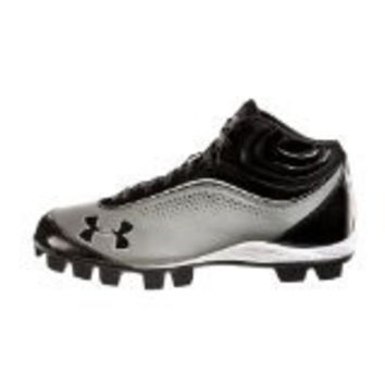 Under Armour Leadoff IV Mid-Cut Rubber Baseball Cleats Cleat Under Armour Gray