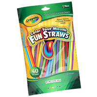 Crayola Color Your Mouth Candy Powder Filled Straws: 40-Piece Bag