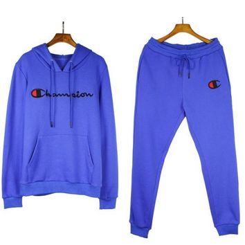 Champion Casual Hoodie Sweater Pants Trousers Set Two-Piece