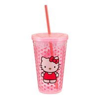 Hello Kitty 18oz. Acrylic Travel Cup w/Straw & Lid