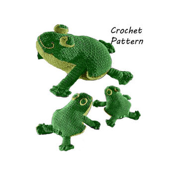 Toy Frog, Doorstop, Decoration Crochet Pattern || Vintage 1970's || Reproduction PDF Instant Download Frogcrochet