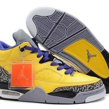 Cheap Air Jordan Son Of Mars Low Shoes Yellow Grape Grey