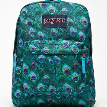 JanSport Superbreak Peacock School Backpack - Womens Backpack - Multi - One