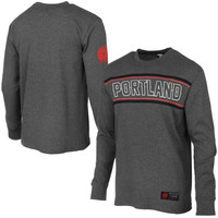 Portland Trail Blazers Big E Long Sleeve Thermal T-Shirt – Charcoal