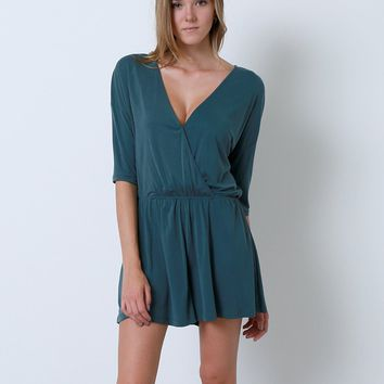 Get Covered Romper - Dark Teal
