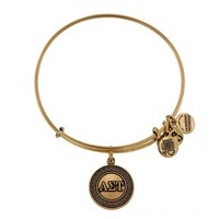 Alex and Ani Alpha Sigma Tau Charm Bangle - Russian Gold