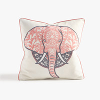 Blush Elephant Throw Pillow