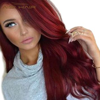 I's a wig Synthetic Red Wigs Long Wavy  Hair  for  Women  Black Hairs