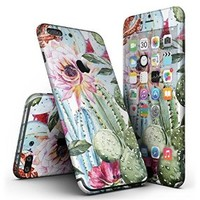 Vintage Watercolor Cactus Bloom iPhone 7 + Plus Ultra-Thin Design Skinz Slim-Fitting Protective Cover Wrap