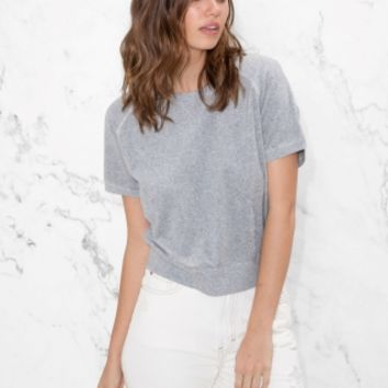 & Other Stories | Raglan Sleeve Top | Grey