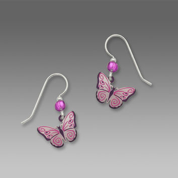 Sienna Sky Earrings - Magenta, Pink, and Violet Butterfly