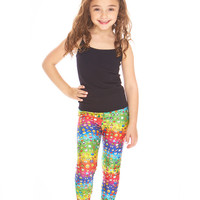Kids Emoji Rainbow Leggings