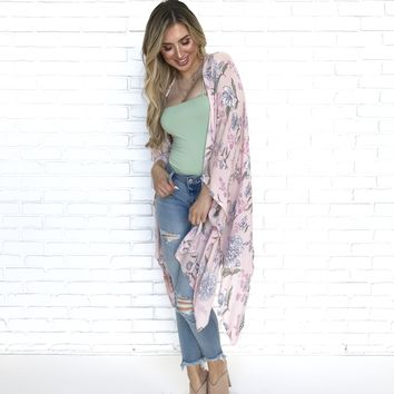 Steal a Kiss From You Floral Kimono