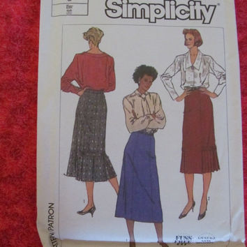 Sale 1980's Simplicity Sewing Pattern, 7603!  Size 8, XS to Small, Long Skirt, Women's, teens, Misses, Summer or Spring.