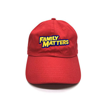 Family Matters Cap in Red