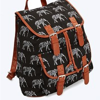 Aztec Elephant Canvas Backpack
