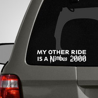 My Other Ride is a Nimbus 2000 Harry Potter Inspired by DecalLab