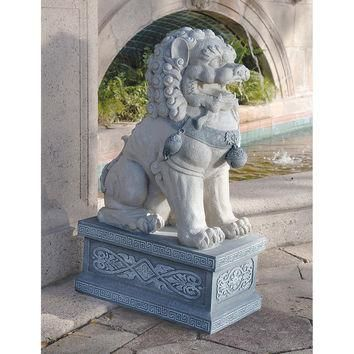 Grande Supreme Guardian Symbol of Strength and Energy Foo Dog Guardian Sculpture FREE