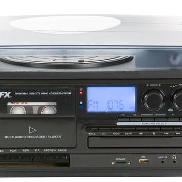 QFX Turntable Audio System With Speakers