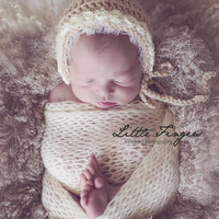 Luxury hand knitted Mohair wrap Newborn Photography Prop, Knit Baby Wrap, Lacy mohair Wrap, Newborn Photo Prop