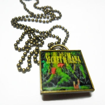 Secret of Mana pendant on brass ball chain, 18 inches FREE size adjustments, video game photo jewelry