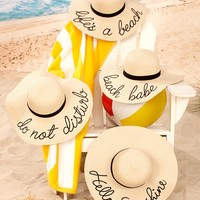 Embroidered  Floppy Sun Hats
