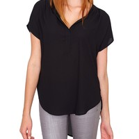 Half Day Blouse Top - Black