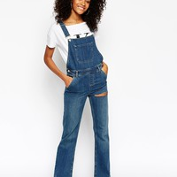 ASOS Denim Overall Flare with Thigh Rip